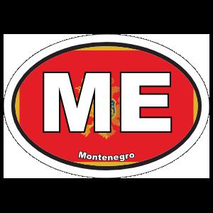Montenegro Me Flag Oval Sticker