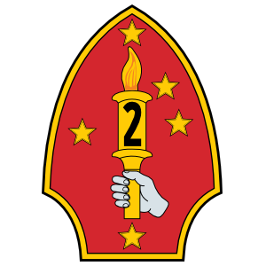 2ND MARINE DIVISION DECAL OUTSIDE DECAL 4X3