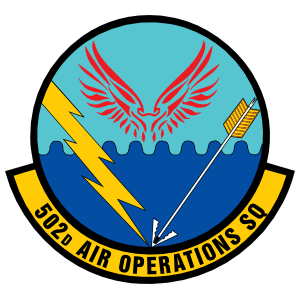 Air Force 502Nd Air Operations Squadron Sticker