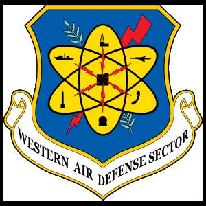 Air Force Western Air Defense Sector Sticker