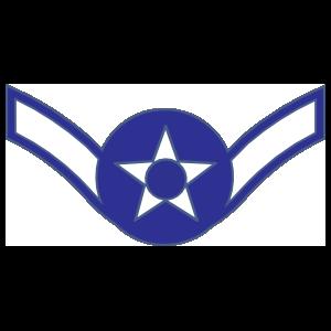 Air Force Rank E-2 Airman Sticker