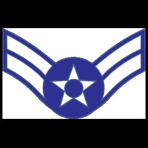 Air Force Rank E-3 Airman First Class Sticker