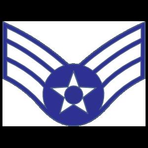 Air Force Rank E-4 Senior Airman  Sticker