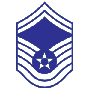 Air Force Rank E-8 Senior Master Sergeant Sticker