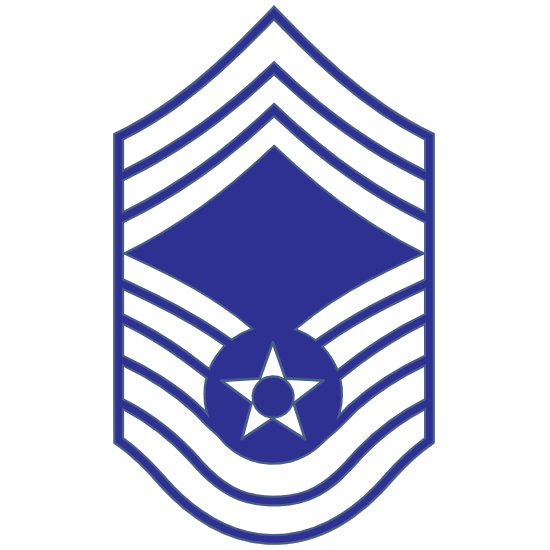 Air Force Rank E-9 Chief Master Sergeant  Sticker