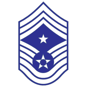Air Force Rank E-9 Command Chief Master Sergeant Sticker