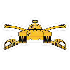 Army Armor Branch Emblem Sticker