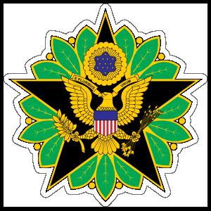 Army Staff Identification Badge Sticker