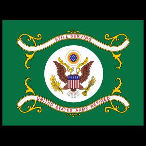 Army Us Army Retired Flag Sticker