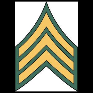 Army Rank E-5 Sergeant Sticker