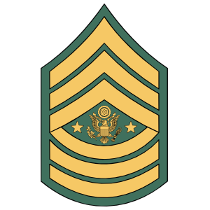 Army Rank E-9 Sergeant Major Of The Army  Sticker
