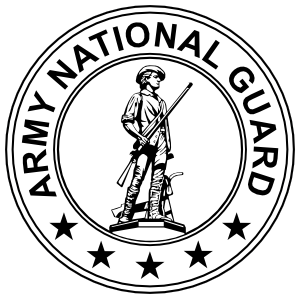 Army National Guard Seal Black And White Magnet