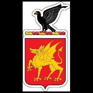 Army 1st Cavalry Regiment Distinctive Unit Insignia Sticker, Army ...