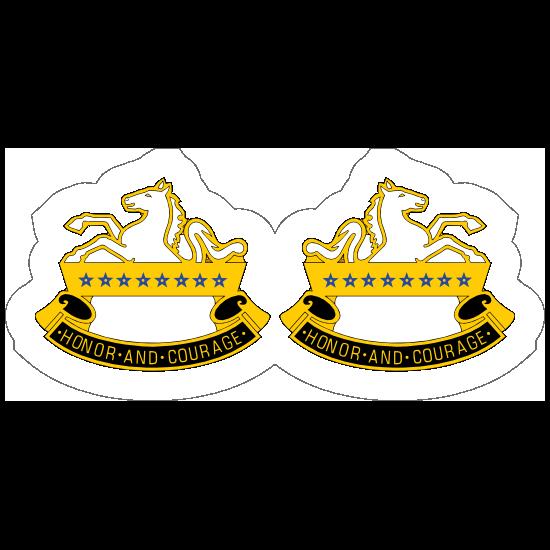 Army 8Th Cavalry Regiment Distinctive Unit Insignia Sticker