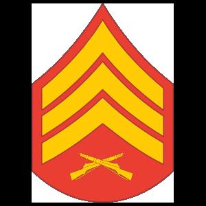 Marine Rank E-5 Sergeant Sticker