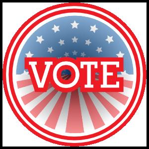 Vote Flag Circle Magnets