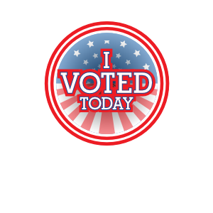 I Voted Today Flag Circle Magnets