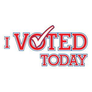 I Voted Today Die Cut Magnets