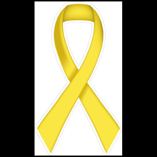 Thin Yellow Ribbon Die-Cut Magnet