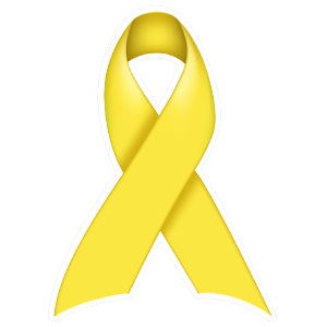 Thick Yellow Ribbon Die-Cut Sticker