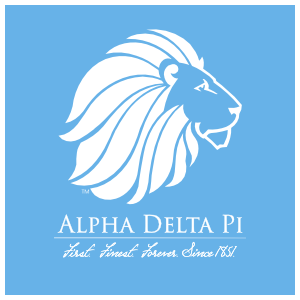 Alpha Delta Pi Blue Square Logo  Sticker