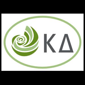 kappa delta greek letters oval sticker