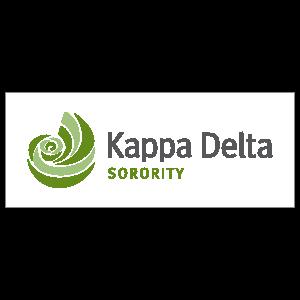 Kappa Delta Sorority Clear Rectangle Sticker