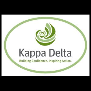 Kappa Delta Tagline White Oval Sticker