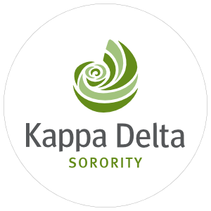 Kappa Delta Sorority Clear Circle Sticker