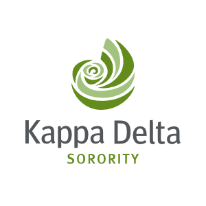 Kappa Delta Sorority White Circle Sticker