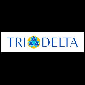 Delta Delta Delta Color Logo On White Rectangle Sticker