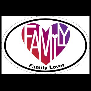 Family Lover's Heart® Oval Sticker