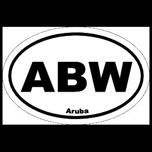 Aruba Abw Oval Sticker
