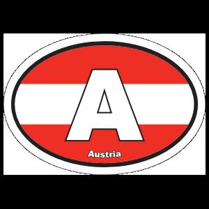 Austria A Flag Oval Sticker