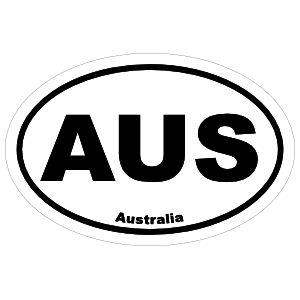 Australia Aus Oval Sticker