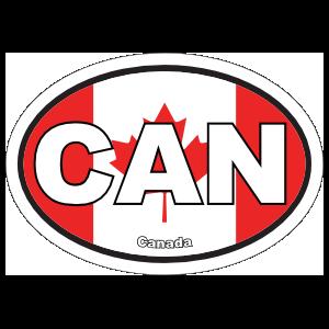 Canada Cdn Flag Oval Magnet