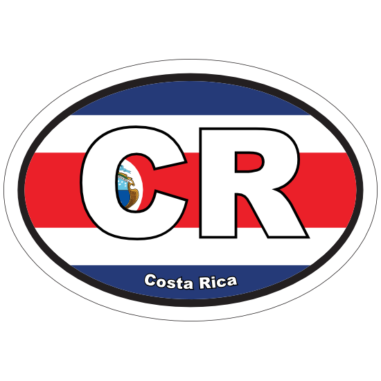 Costa Rica Basic Flag Logo Shortsleeve Tee