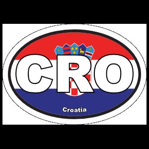Croatia Cro Flag Oval Magnet
