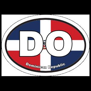 Dominican Republic Do Flag Oval Sticker