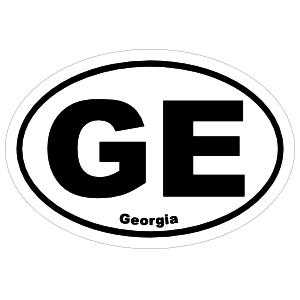 Georgia Ge Oval Sticker