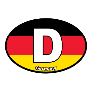 Germany, D, Flag, Oval