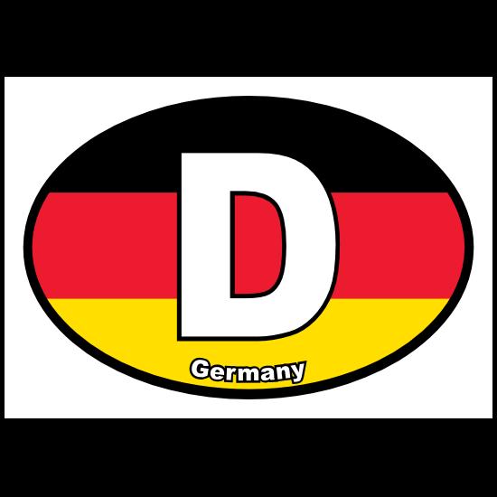 Germany, D, Flag, Oval