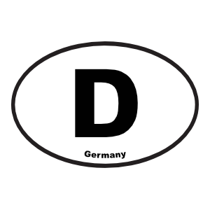 Germany D Oval Sticker