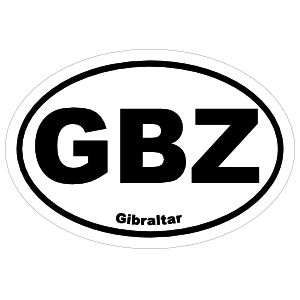 Gibraltar Gbz Oval Sticker