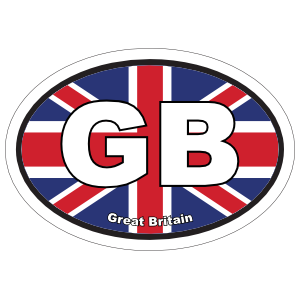 Great Britain Gb Flag Oval Sticker