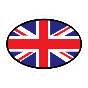 Great Britain Gb Flag Oval With No Words Magnet