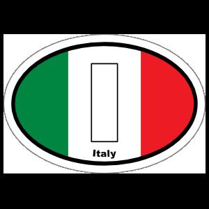 Italy I Flag Oval Sticker