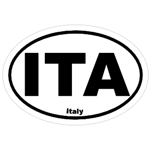 Italy Ita Oval Sticker