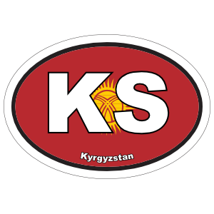 Kyrgyzstan Ks Flag Oval Magnet