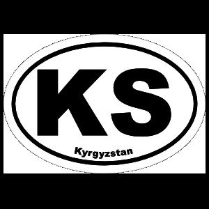 Kyrgyzstan Ks Oval Magnet